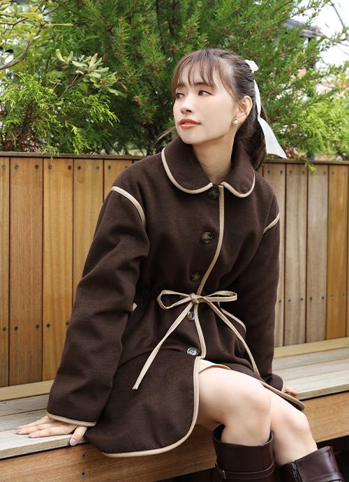 パイピング女の子コート